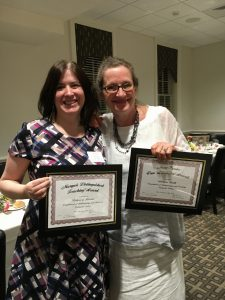 Professors Smith and Kissane holding their awards
